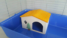 Chinchilla Wooden House Large Size Rodents Bed HandMade Cage Ferret Guinea Pig