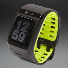 Nike+ SportWatch GPS powered by TomTom Black Volt watch & free foot sensor Boxed