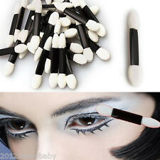 50pcs Disposable Double-ended EyeShadow sponge Applicators Brushes Makeup Tool
