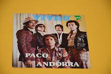 """PACO ANDORRA 7"""" VIVRO' 1°ST OIRG ITALY SOLO COPERTINA SENZA DISCO"""