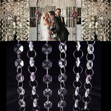 33ft 10m Wedding Party Decoration Clear Acrylic Crystal Beads Garland Chandelier