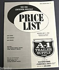 65 66 Confidential Wholesale PRICE LIST A-1 Trailer Supply Corp.Sunnyvale, CA
