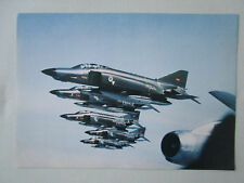 PLAQUETTE DOCUMENT 1 PAGE RECTO VERSO MBB MCDONNELL RF-4E PHANTOM II LUFTWAFFE