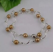 Stunning Gold Pearl Necklace