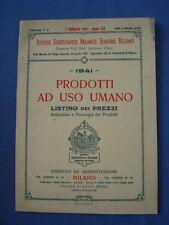 FARMACIA-ISTITUTO SIEROTERAPICO MILANESE-LISTINO PREZZI PRODOTTI USO UMANO-1941