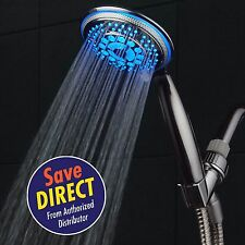 DreamSpa® All-Chrome Water Temperature Color-Changing 5-setting LED Hand Shower