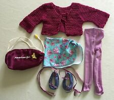 American Girl Doll Dance Outfit & Accessories Ballet Shoes Sweater Skirt & More
