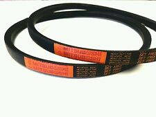 2 Genuine Mitsuboshi   PTO Belts For Kubota G18 / G21 Replaces P/N 66021-25080