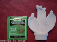 CACTUS TEABAG HOLDER CERAMIC READY 2 PAINT DISH JEWELRY Hand made