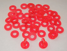 50 Tattoo Machine Pink Acrylic Coil Core Washers Parts, Binder post,  Made USA