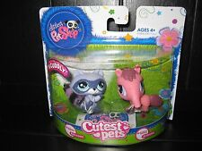 New in Package Littlest Pet Shop Cutest Pets: Fuzzy Raccoon, Anteater 2580, 2581