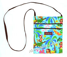 Hawaiian print cross body side bag - 312Aqua