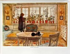Carl Larsson Poster The Flower Window Offset Lithograph  14x11
