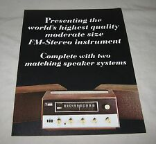 Original FISHER 150 Transistor Stereo Receiver Factory Sales BROCHURE