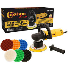"Custom Shop 6"" Variable Speed Random Orbit Dual-Action Polisher W/ 6 Pad Kit"