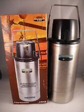 Thermos Vintage 1974 Stainless Steel Unbreakable Vacuum Bottle 2 Quarts Handle