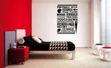 FOOTBALL COLLAGE 2 SUBWAY LETTERING DECAL WALL VINYL DECOR STICKER ROOM SPORTS