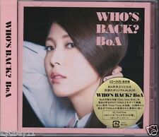 New BoA WHO'S BACK? Limited Edition CD DVD Japan AVCK-79214