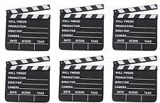 6 HOLLYWOOD CLAPBOARD CLAPPER CLAP BOARDS MOVIE SIGN DIRECTOR'S PROP CHALKBOARD
