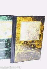 """Pioneer Photo Album With World Map Holds 36 Pictures 4""""x6"""" BROWN w/ Black Inside"""