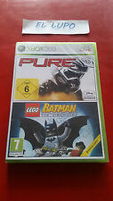 PURE + LEGO BATMAN THE VIDEOGAME XBOX 360 NEUF SOUS BLISTER VERSION FRANCAISE