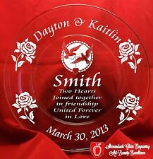 Personalized Engraved Wedding /Anniversary Serving plate.