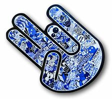 BLUE Tint The SHOCKER Hand With JDM Drift Style Sticker Bomb Motiif car sticker