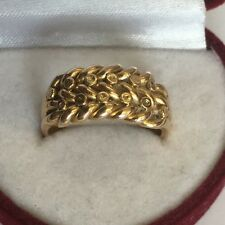 Antique Solid 18ct Gold Hallmarked Keepers Ring Chester 1901 Size P