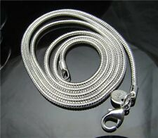 "silver plate 10pcs x snake chain silver 20"" 2mm wide"