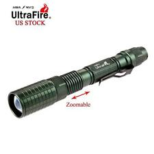 Ultrafire Zoomable CREE XM-L T6 8000 LM LED Flashlight Torch 18650 Battery US SE