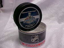 2006 NHL Stanley Cup Final Game Two Puck Carolina Hurricanes v Edmonton Oilers