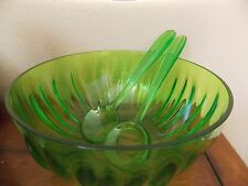 GUZZINI~GUZZINI LAB~GREEN ACID~LARGE SALAD BOWL & TWO SERVERS~NEW
