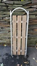 "VINTAGE Wooden Snow Sled with Aluminium Frame 40"" long Great Use for Decorating"