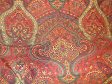 "POTTERY BARN ""MIRA"" RED PAISLEY KING SIZE DUVET COVER EUC!"