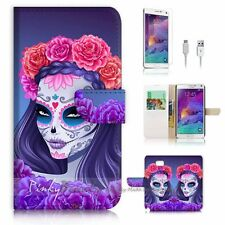 Samsung Galaxy Note 5 Flip Wallet Case Cover! P2277 Sugar Skull