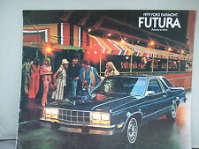 1979 Ford Fairmont Futura - Colour Brochure