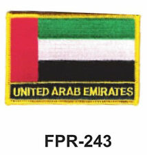 """2-1/2'' X 3-1/2"""" UNITED ARAB EMIRATES Flag Embroidered Patch"""