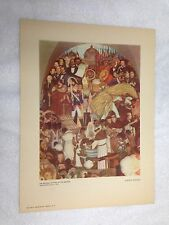 Diego Rivera Vintage Print 1948 11½  x 15 ½ The Reform Baptism of The Indians