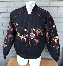 Southwestern Aztec Horse Old West Insualted Small Zip Jacket Award Design