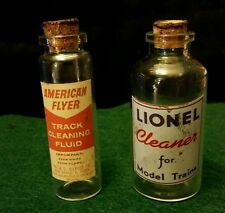 2 Vintage Style Toy Railroad Lionel, American Flyer Bottle Handcrafted by Artist