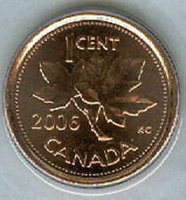 2006-P Penny 1 One Cent '06 Canada MAGNETIC BU Coin UNC