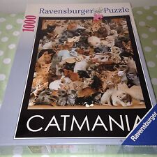 CATMANIA SEALED RAVENSBURGER 1000 Piece Jigsaw Puzzle NEW CATS CAT MANIA GIFT