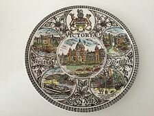 """Vintage Wood & Son Victoria British Columbia Canada Plate, Made in England, 10"""""""