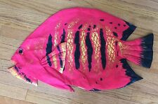 "Fish Red & Black Pillow Shell Cover Big 29"" X 17"" Make Your Own Flame Angle Fish"