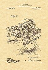 Patent Print - Harley Davidson Side Car for Motorcycles - Ready To Be Framed!