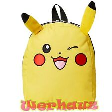 "Pokemon Toddler Backpack with Ears Pikachu 10"" Book Bag"