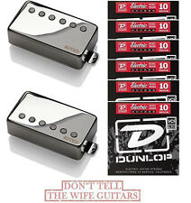 EMG 57 + 66 CHROME ACTIVE PICKUP SET ( LONG SHAFT POTS & 6 STRING SETS )