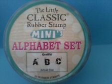 GRAFFITI (DISTRESSED STYLE) - HAMPTON ART LITTLE CLASSIC ALPHABET RUBBER STAMPS