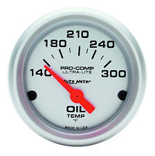 "AUTOMETER ULTRA LITE ELECTRIC OIL TEMPERATURE 140-300 F GAUGE 2 1/16"" (52mm)"