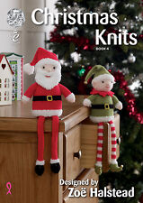 King Cole Christmas Knits 4 Knitting Pattern Book by Zoe Halstead